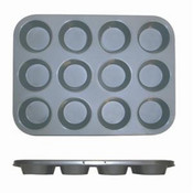 12 CUP MUFFIN PAN - NON STICK (0.4M/M), 3.5 OZ EACH CUP