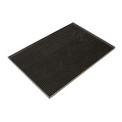 "PLASTIC BAR SERVICING MAT 12"" X 18"", BROWN"
