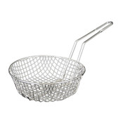 "8"" ROUND, CULINARY BASKET NICKEL PLATED, COARSE MESH"