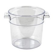 1 QT ROUND FOOD STORAGE CONTAINER, PC, CLEAR