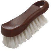 "6"" X 2 1/2"" X 2"" CUTTING BOARD BRUSH, PLASTICS, BROWN"