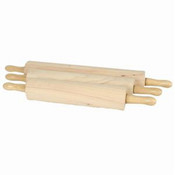 "ROLLING PIN, 18"", 3 1/4"" DIA. WOODEN"