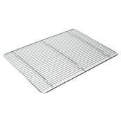 "12"" X 16 1/8"" ICING/COOLING RACK WITH BUILT-IN FEET, CHROME,"