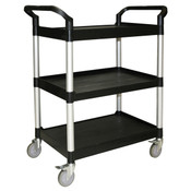 "33 1/2"" X 16 1/8"" X 37"" 3-TIER BUS CART, BLACK ( KD )"