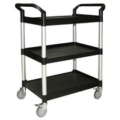 "40 1/2"" X 19 3/4"" X 37 7/8"" ,3-TIER BUS CART, BLACK ( KD )"