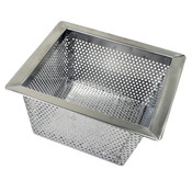 "FLOOR DRAIN STRAINER, 304 STAINLESS STEEL, 0.8MM, 10"" X 10"" X 5"""