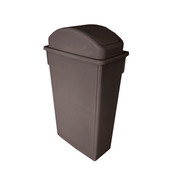 TRASH CAN, 23 GALLON, BROWN, PLASTICS