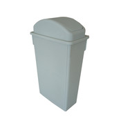 TRASH CAN, 23 GALLON, GREY, PLASTICS