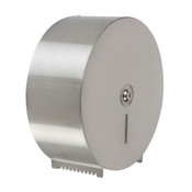JUMBO-ROLL TOILET TISSUE DISPENSER, 18/8 STAINLESS STEEL