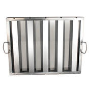 "HOOD FILTER 20"" X 16"", STAINLESS STEEL"