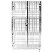 "18""X36""x63"" SECURITY CAGE ONLY, HEAVY DUTY CHROMATE FINISHED"