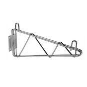 "21"" DIRECT WALL BRACKET, SINGLE SHELF SUPPORT, CHROME"