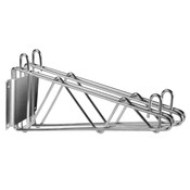 "14"" DIRECT WALL BRACKET, DOUBLE SHELF SUPPORT, CHROME"