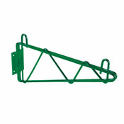 "14"" DIRECT WALL BRACKET, SINGLE SHELF SUPPORT, GREEN EPOXY"