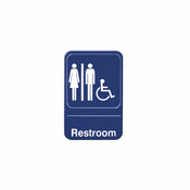 "6"" X 9"" INFORMATION SIGN WITH SYMBOLS, RESTROOMS/ ACCESSIBLE"