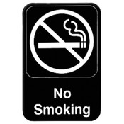 "6"" X 9"" INFORMATION SIGN WITH SYMBOLS, NO SMOKING"