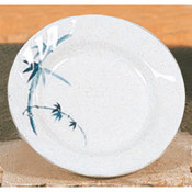 "10 1/2"" CURVED RIM PLATE, BLUE BAMBOO"