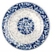 "10 3/8"" PLATE, BLUE DRAGON"