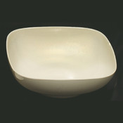 "128 OZ, 11"" X 11"" ROUND SQUARE BOWL,  3 1/2"" DEEP, PASSION PEARL"
