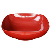 "128 OZ, 11"" X 11"" ROUND SQUARE BOWL,  3 1/2"" DEEP, PASSION RED"