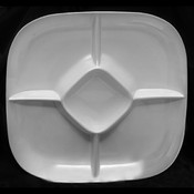 "15"" X 15"" CHIP AND DIP PLATTER, 1 3/4"" DEEP, PASSION WHITE"