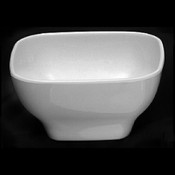 "20 OZ, 5 1/2"" X 5 1/2"" ROUND SQUARE BOWL, 2 3/4"" DEEP, PASSION WHITE"