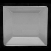 "13 3/4"" X 13 3/4"" SQUARE PLATE, 1 1/8"" DEEP, PASSION WHITE"