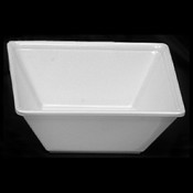 "23 OZ, 6"" X 6"" SQUARE BOWL, 2 1/8"" DEEP, PASSION WHITE"