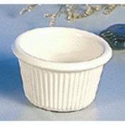"1 1/2 OZ, 2 1/2"" FLUTED RAMEKIN, BONE"