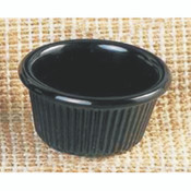 "1 1/2 OZ, 2 1/2"" FLUTED RAMEKIN, BLACK"