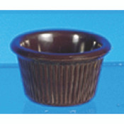 "1 1/2 OZ, 2 1/2"" FLUTED RAMEKIN, CHOCOLATE"