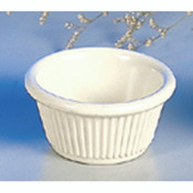 "2 OZ, 2 7/8"" FLUTED RAMEKIN, BONE"