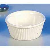 "3 1/2 OZ, 3 3/8"" FLUTED RAMEKIN, BONE"