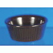 "3 1/2 OZ, 3 3/8"" FLUTED RAMEKIN, CHOCOLATE"