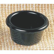 "1 1/2 OZ, 2 1/2"" SMOOTH RAMEKIN, BLACK"