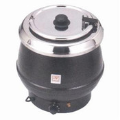 10 QT STAINLESS SOUP WARMER, BLACK COLOR