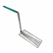 "4 3/4"" X 10 3/4"" FRY BASKET PRESS, GREEN HANDLE"