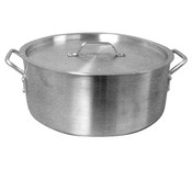12 QT ALUMINUM BRAZIER POT & LID MIRROR FINISH
