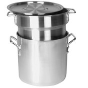 12 QT ALUMINUM HEAVY GAUGE DOUBLE BOILER MIRROR FINISH