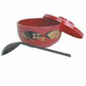 30 OZ, JAPANESE NOODLE BOWL, RED
