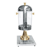 2.2 GALLON JUICE DISPENSER, STAINLESS STEEL WITH GOLD PLATED ACCENTS