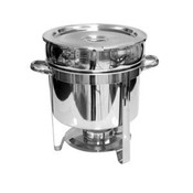11 QT MARMITE CHAFER, STAINLESS STEEL