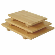 "10 1/2"" x 7"" x 1 1/4"" BAMBOO SUSHI PLATE LARGE"