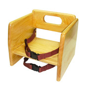 NATURAL WOOD STACKING BOOSTER SEAT, K/D