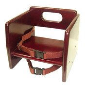 MAHOGONY FINISH WOOD STACKING BOOSTER SEAT, K/D