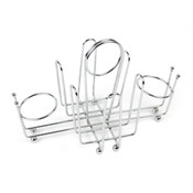 """WIRE HOLDER, CHROME PLATED  9"""" X 5"""" X 5 3/4"""""""
