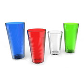 10 oz. BELIZE TUMBLER,POLYCARBONATE,RED