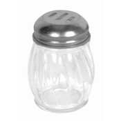 6 OZ STAINLESS STEEL SLOTTED SWIRL CHEESE SHAKER