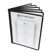 "6 PAGE BOOK FOLD MENU COVER, 8 1/2"" X 11"", BLACK"