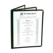 "3 PAGE BOOK FOLD MENU COVER, 8 1/2"" X 11"", GREEN"